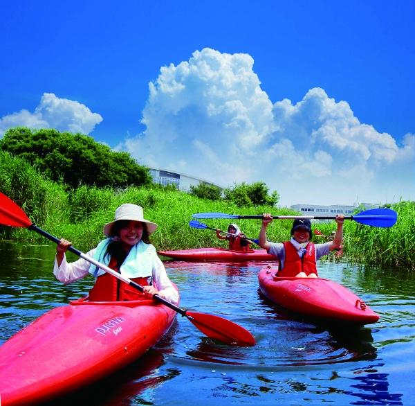 琵琶湖でのカヤック