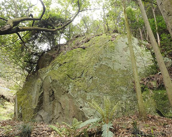 明智の戻り岩