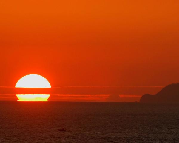 天草灘の夕陽