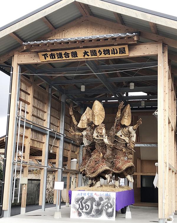 八朔祭の大造り物展示小屋
